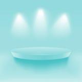 Estante vacío azul Foto de archivo