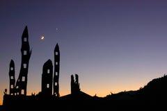 Estante y luna Imagen de archivo libre de regalías