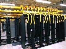 Estante y pilas del centro de datos Fotos de archivo