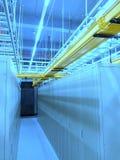 Estante y pilas del centro de datos Foto de archivo libre de regalías