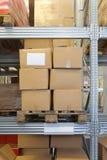 Estantería de Warehouse Foto de archivo libre de regalías