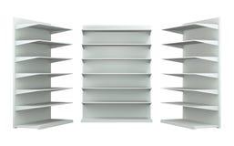 estantes 3D y estante Foto de archivo libre de regalías
