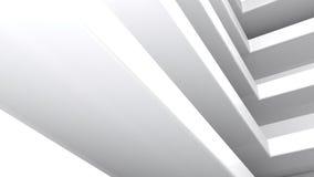 Estantes abstractos blancos rectangulares - representación 3D Fotos de archivo