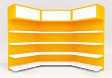 Estantes amarillos Imágenes de archivo libres de regalías
