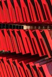 Estantes como modelo rojo abstracto Fotos de archivo