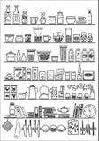 Estantes de la cocina o de la despensa Imagenes de archivo