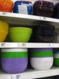 Estantes de los platos Foto de archivo