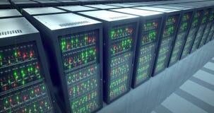 Estantes de los servidores Datacenter moderno SMAU 2010 - Microsoft se nubla la computación 4k UHD libre illustration