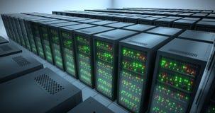 Estantes de los servidores Datacenter moderno SMAU 2010 - Microsoft se nubla la computación 8k UHD stock de ilustración