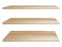 Estantes de madera foto de archivo libre de regalías