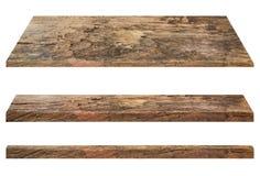 Estantes de madera Imagen de archivo