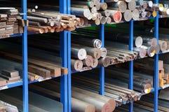 Estantes del acero y de las barras de hierro Fotografía de archivo