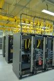 Estantes del centro de datos Foto de archivo