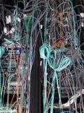Estantes del servidor Foto de archivo