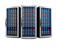 Estantes del servidor de red Imagen de archivo