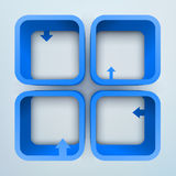 estantes del vector 3d Fotografía de archivo libre de regalías