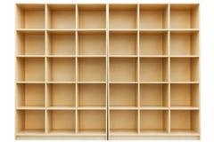Estantes, pequeño rectángulo de madera con las células Fotografía de archivo libre de regalías