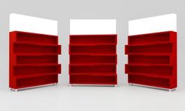 Estantes rojos Imagen de archivo libre de regalías
