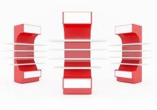 Estantes rojos Foto de archivo libre de regalías