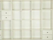 Estantes vacíos Imagen de archivo libre de regalías