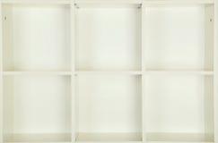 Estantes vacíos Imágenes de archivo libres de regalías
