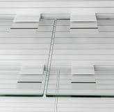 Estantes vacíos de cristal Imagen de archivo libre de regalías