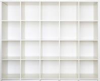 Estantes vacíos, biblioteca del estante para libros Imagen de archivo