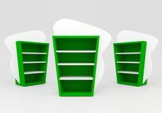 Estantes verdes Foto de archivo