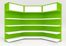 Estantes verdes Fotografía de archivo libre de regalías