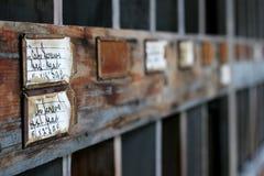 Estantes viejos Fotografía de archivo libre de regalías