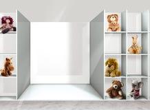 Estantes y juguetes Fotos de archivo libres de regalías
