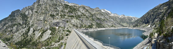 Estany de Cavallers in the Spanish Pyrenees Royalty Free Stock Photography