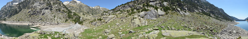Estany de Cavallers in the Spanish Pyrenees Royalty Free Stock Photo