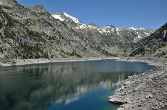 Estany de Cavallers in the Spanish Pyrenees Stock Images