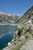 Estany de Cavallers in the Spanish Pyrenees Royalty Free Stock Images