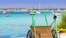 Estany des peix in Formentera lake Mediterranean Stock Image