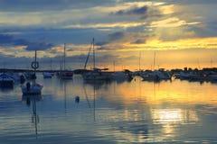 Estany des peix sunset lake Formentera Royalty Free Stock Photography