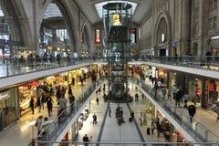 Estação central de Leipzig, Alemanha Fotografia de Stock Royalty Free