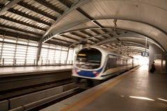 A estação da ligação do aeroporto, Banguecoque, Tailândia Imagem de Stock