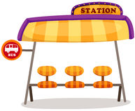 Estação de autocarro Fotografia de Stock Royalty Free