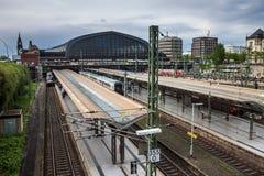 Estação de caminhos-de-ferro da central de Hamburgo Foto de Stock Royalty Free