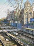 Estação de caminhos-de-ferro em Buenos Aires Argentina Imagem de Stock