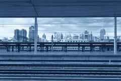 Estação de caminhos-de-ferro moderno Fotografia de Stock Royalty Free