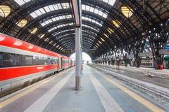 Estação de comboio da central de Milão Fotografia de Stock