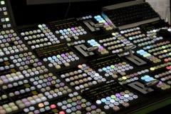 Estação de trabalho de edição video Fotos de Stock Royalty Free