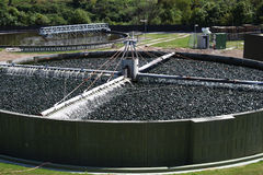 Estação de tratamento de água Waste Imagens de Stock