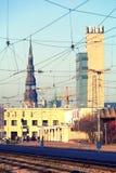 A estação de trem central de Riga em Letónia Fotografia de Stock Royalty Free