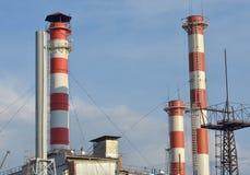 Estação do electropower do calor Foto de Stock Royalty Free
