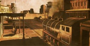 Estação ocidental velha Imagem de Stock