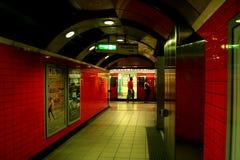 Estação subterrânea em Londres Fotografia de Stock Royalty Free